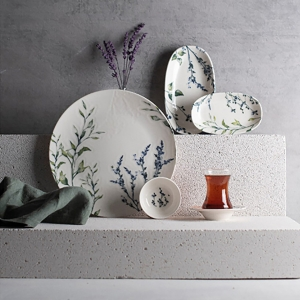 Chi Chi HOME Lavender Pino 26 Parça Porselen Kahvaltı Seti