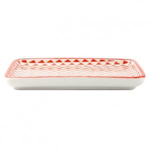 Porland Mix & Match Kırmızı Kayık Tabak 15cm